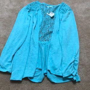 Aqua open front cardigan